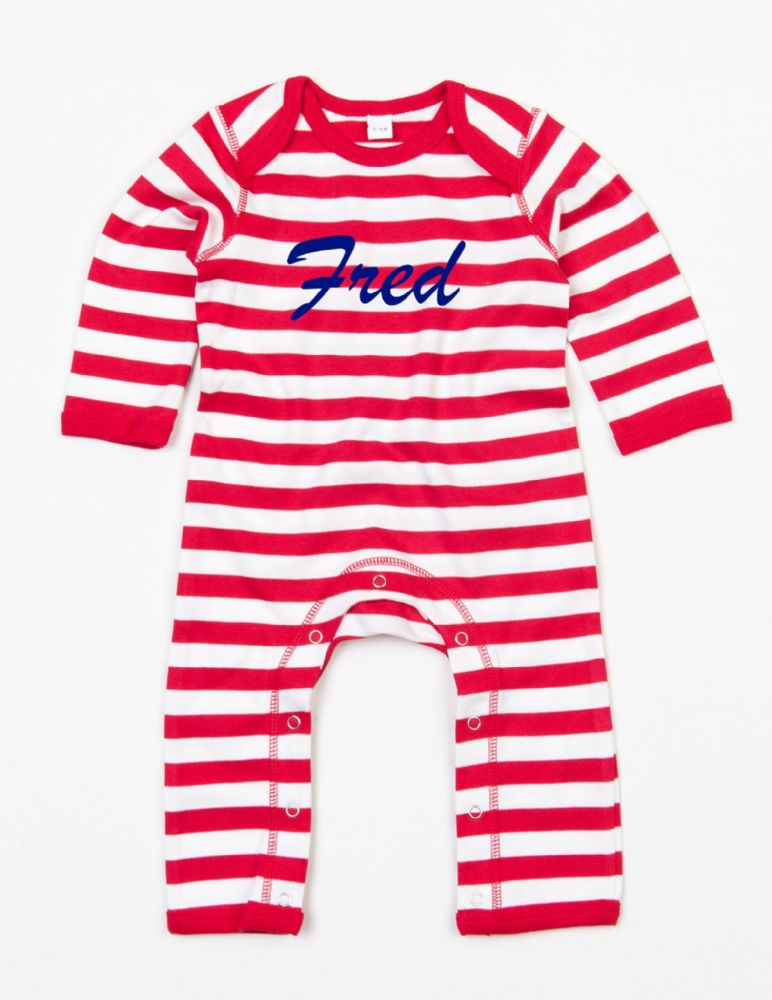 Baby Striped Romper Suit